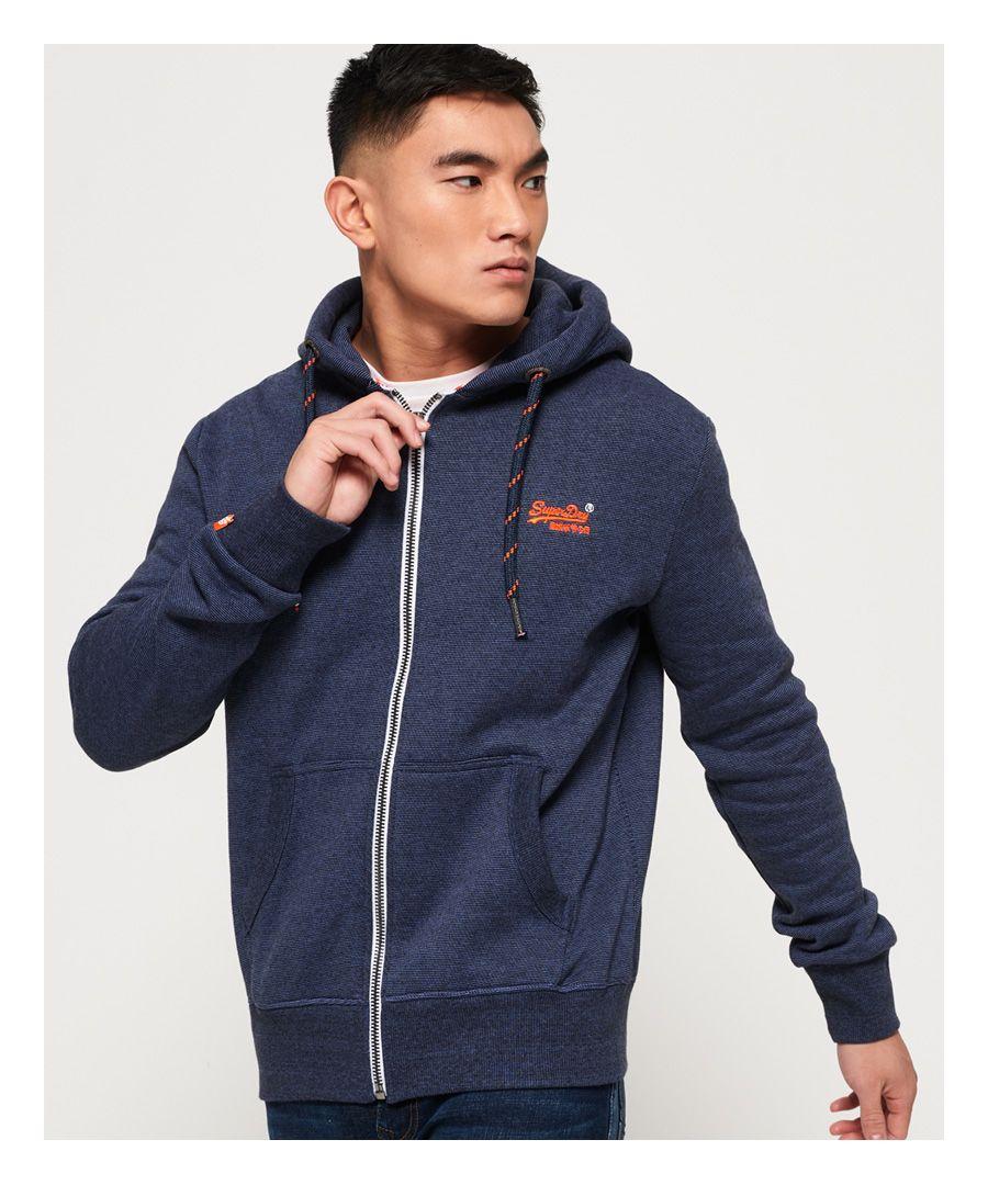 Image for Superdry Orange Label Zip Hoodie
