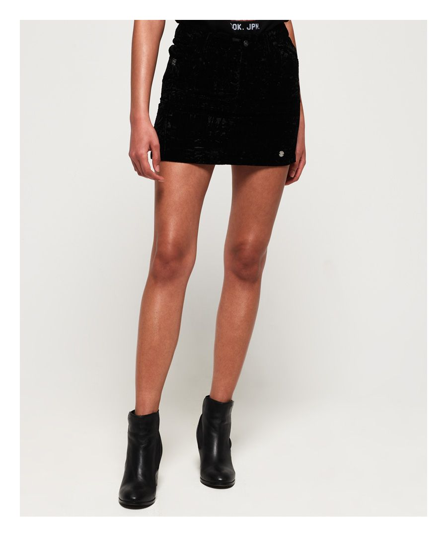 Image for Superdry Leonie Velvet Skirt