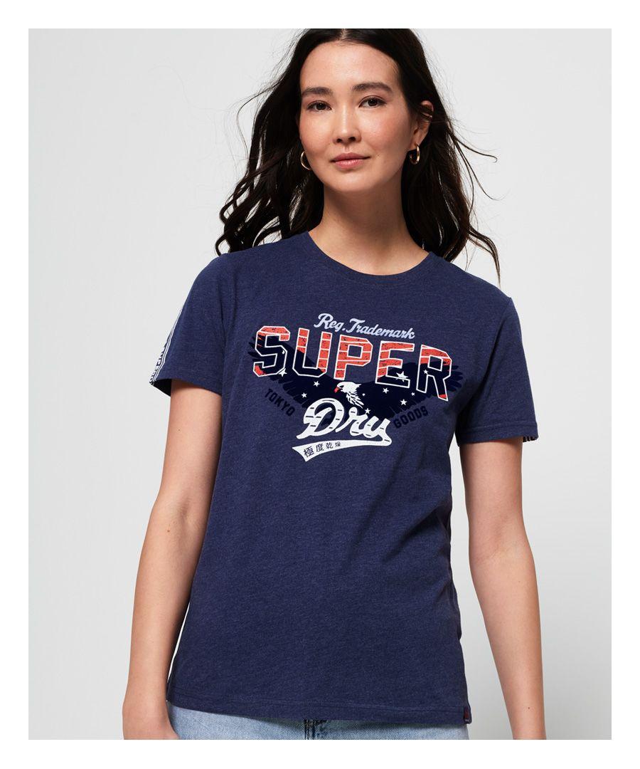 Image for Superdry Eagle Star Flock T-Shirt