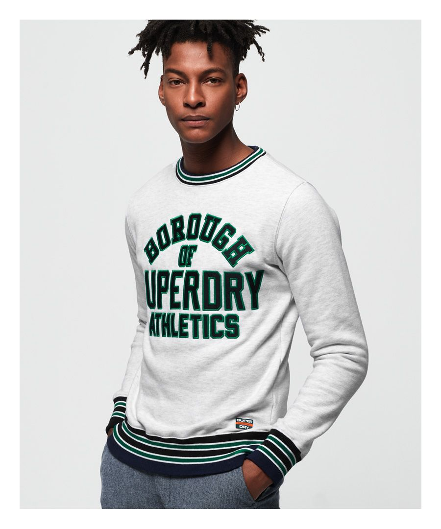 Image for Superdry Academy Tipped Applique Sweatshirt
