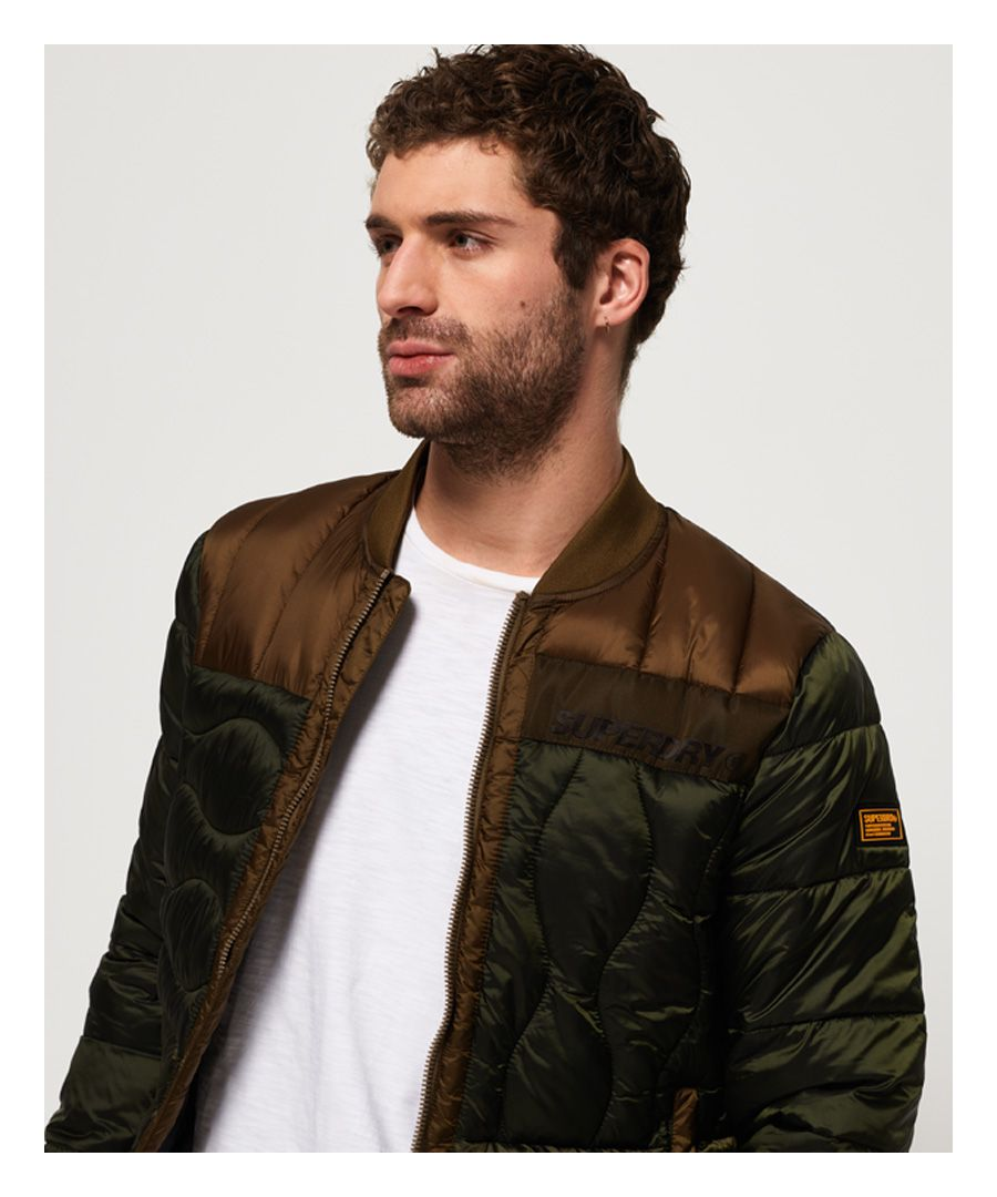 Image for Superdry Convex Mixed Quilt Bomber Jacket