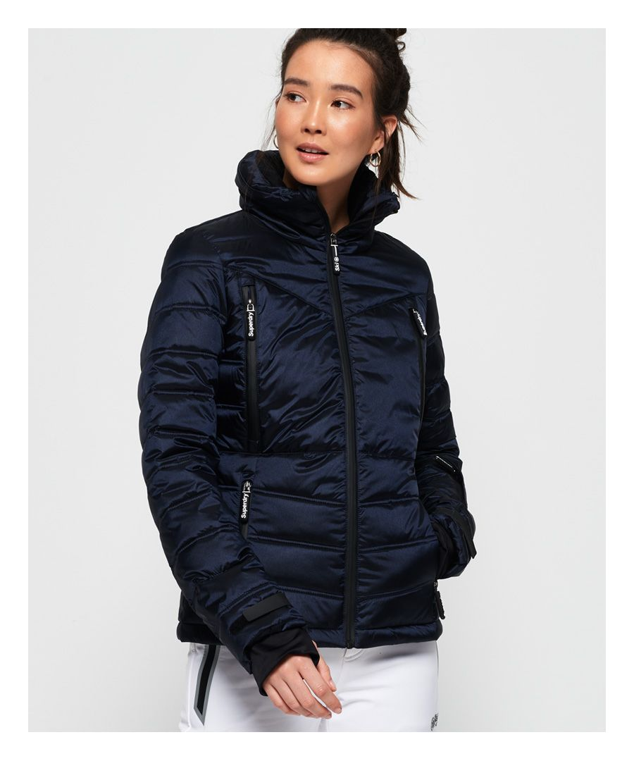 Image for Superdry Slim Chevron Funnel Puffer Jacket