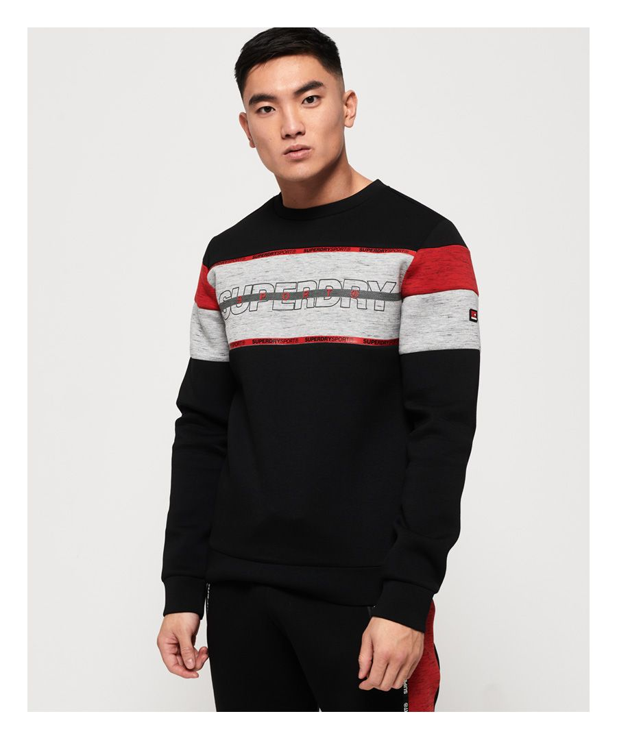 Image for Superdry Gym Tech Cut Crew Sweatshirt