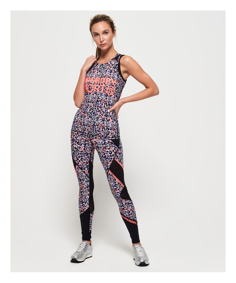 Image for Superdry Active Mesh Panel Leggings