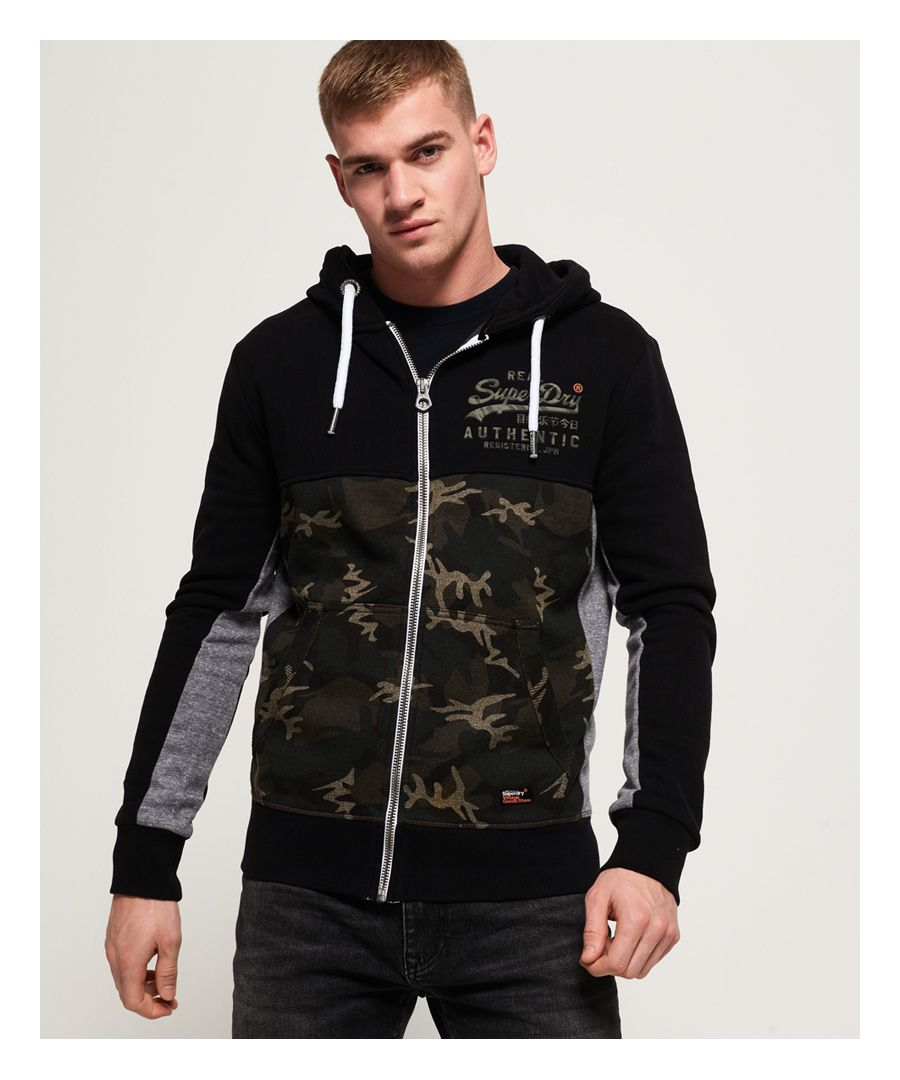Image for Superdry Vintage Logo Camo Zip Hoodie