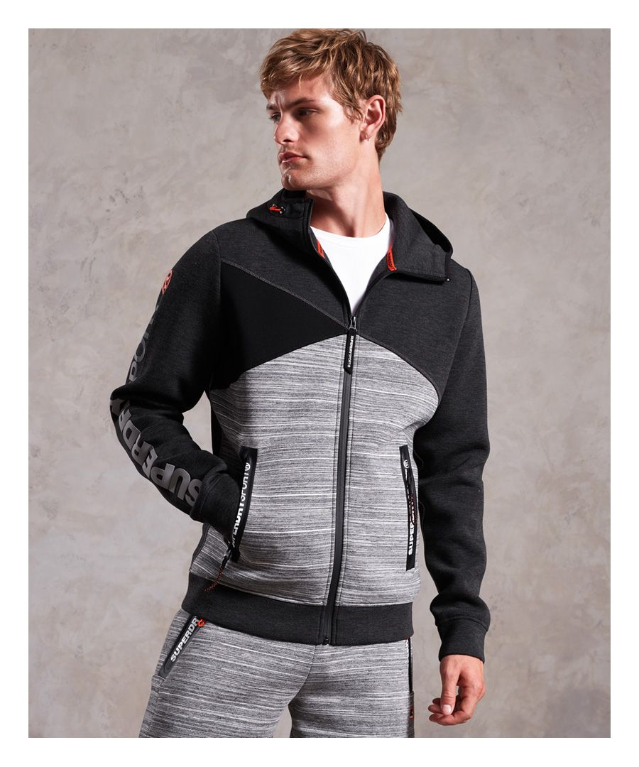 Image for Superdry Gym Tech Spliced Zip Hoodie