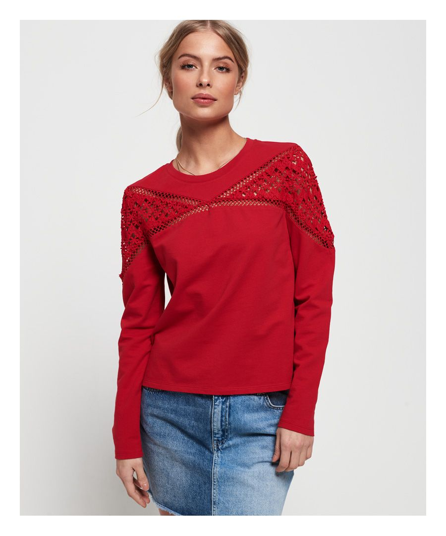 Image for Superdry Zariah Lace Panel Top