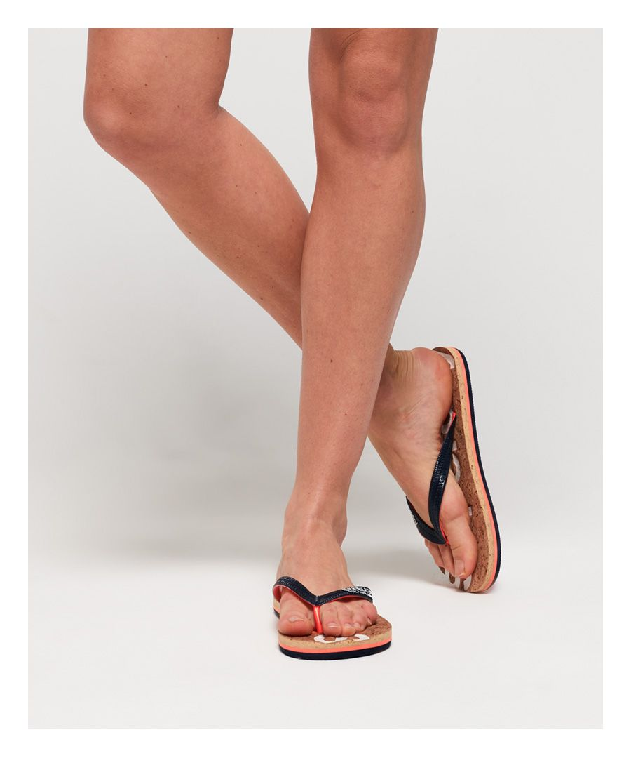 Image for Superdry Glitter Cork Flip Flops