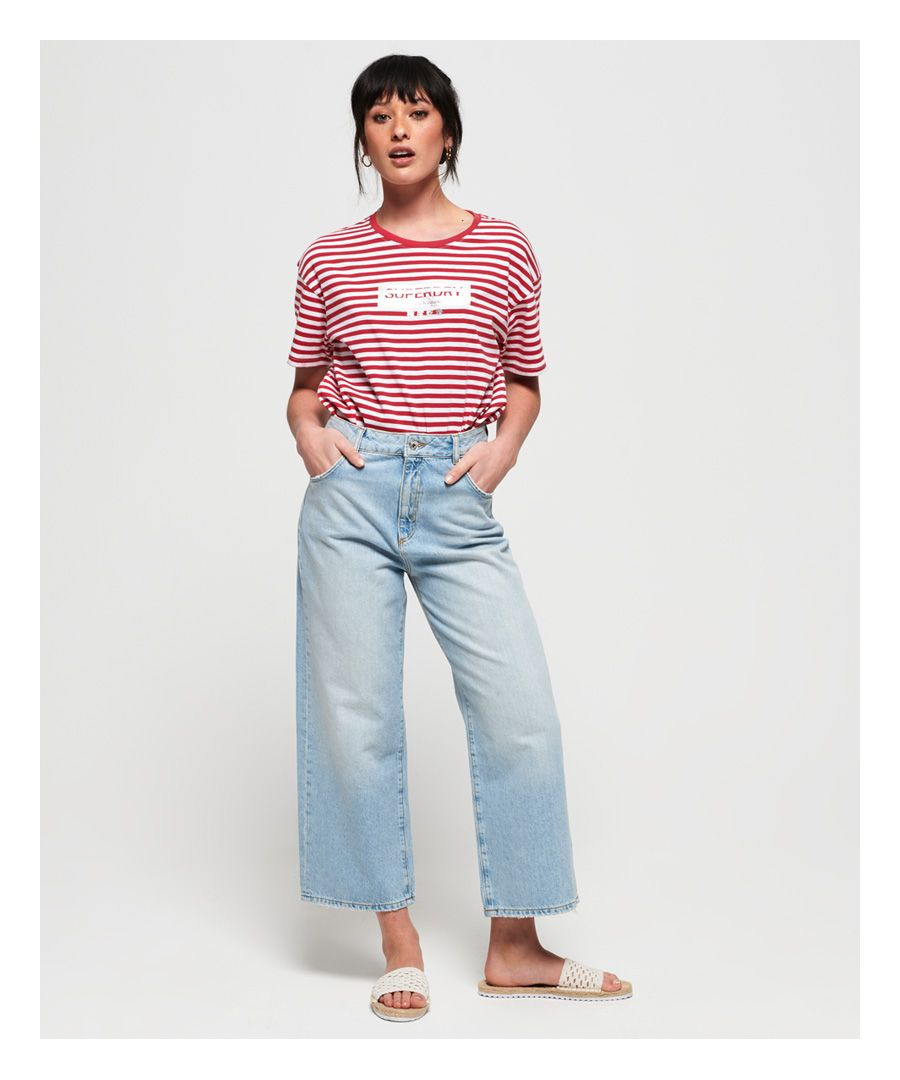 Image for Superdry Minimal Logo Stripe Oversized Portland T-Shirt