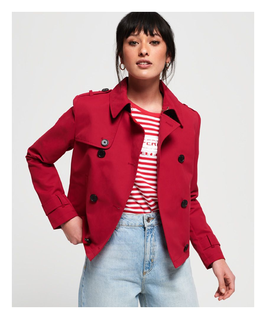 Image for Superdry Cropped Azure Trench Coat
