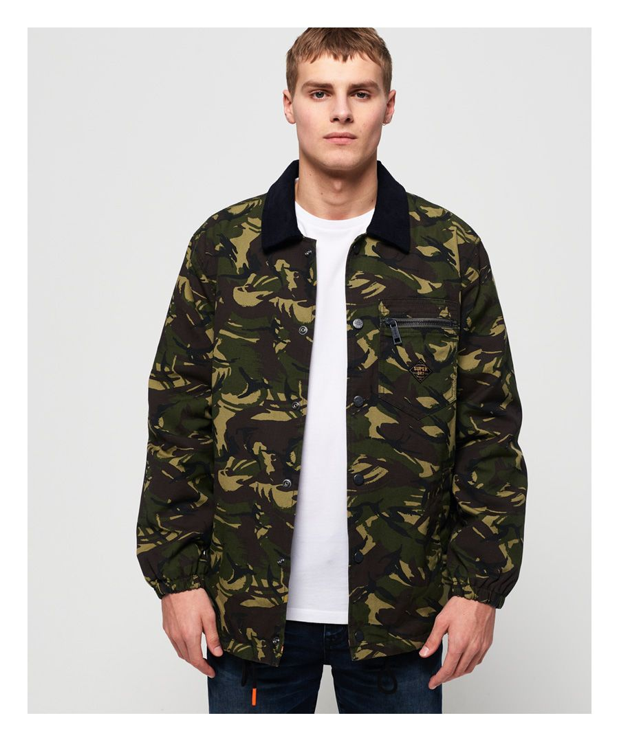Image for Superdry Supersonic Canvas Coach Jacket