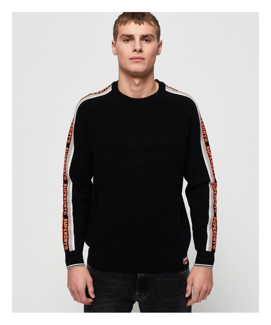 Image for Superdry Superdry Grade Embossed Crew Jumper