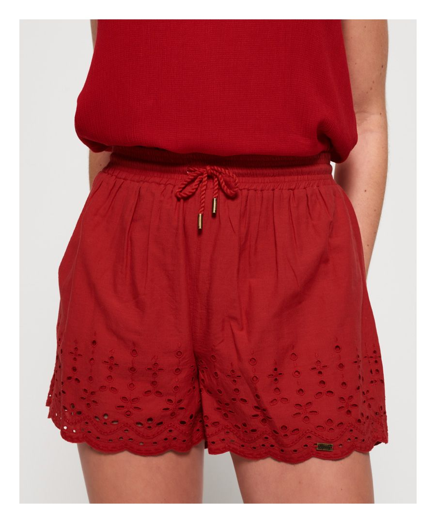 Image for Superdry Annabelle Embroidered Shorts
