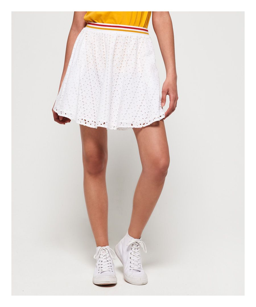 Image for Superdry Teagan Schiffli Skirt