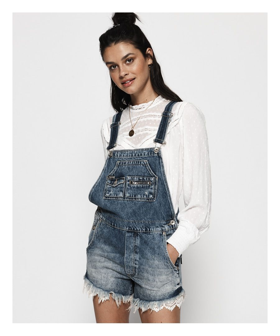 Image for Superdry Denim Lace Dungarees