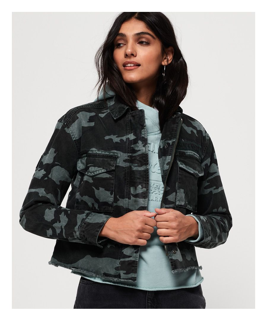 Image for Superdry Riley Cropped Rookie Jacket