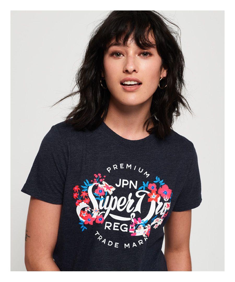 Image for Superdry Premium Script Floral T-Shirt