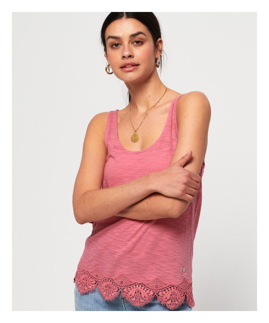 Image for Superdry Morocco Lace Hem Vest Top