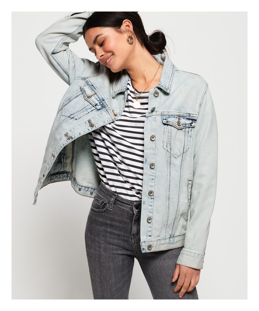 Image for Superdry Denim Long Line Jacket