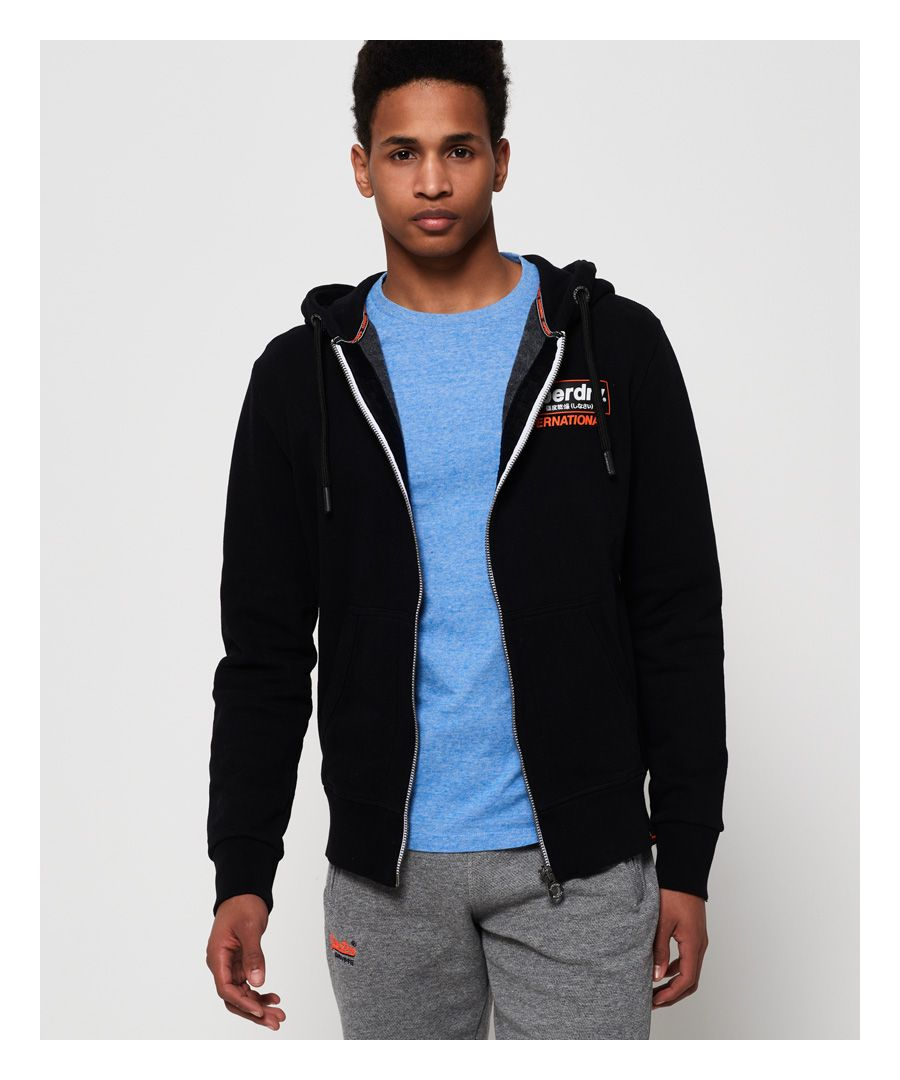 Image for Superdry International Monochrome Zip Hoodie
