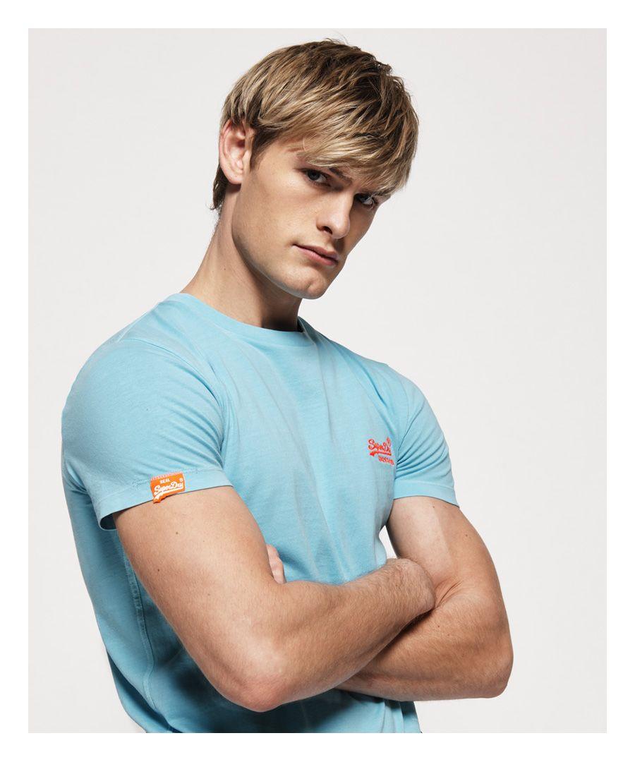 Image for Superdry Orange Label Neon T-Shirt