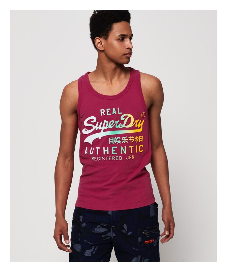 Image for Superdry Vintage Logo Authentic Fade Mid Weight Vest Top