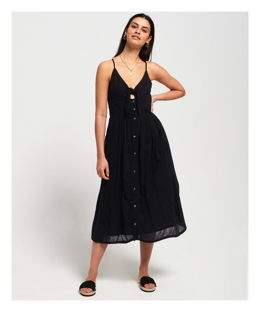Image for Superdry Jayde Tie Front Midi Dress