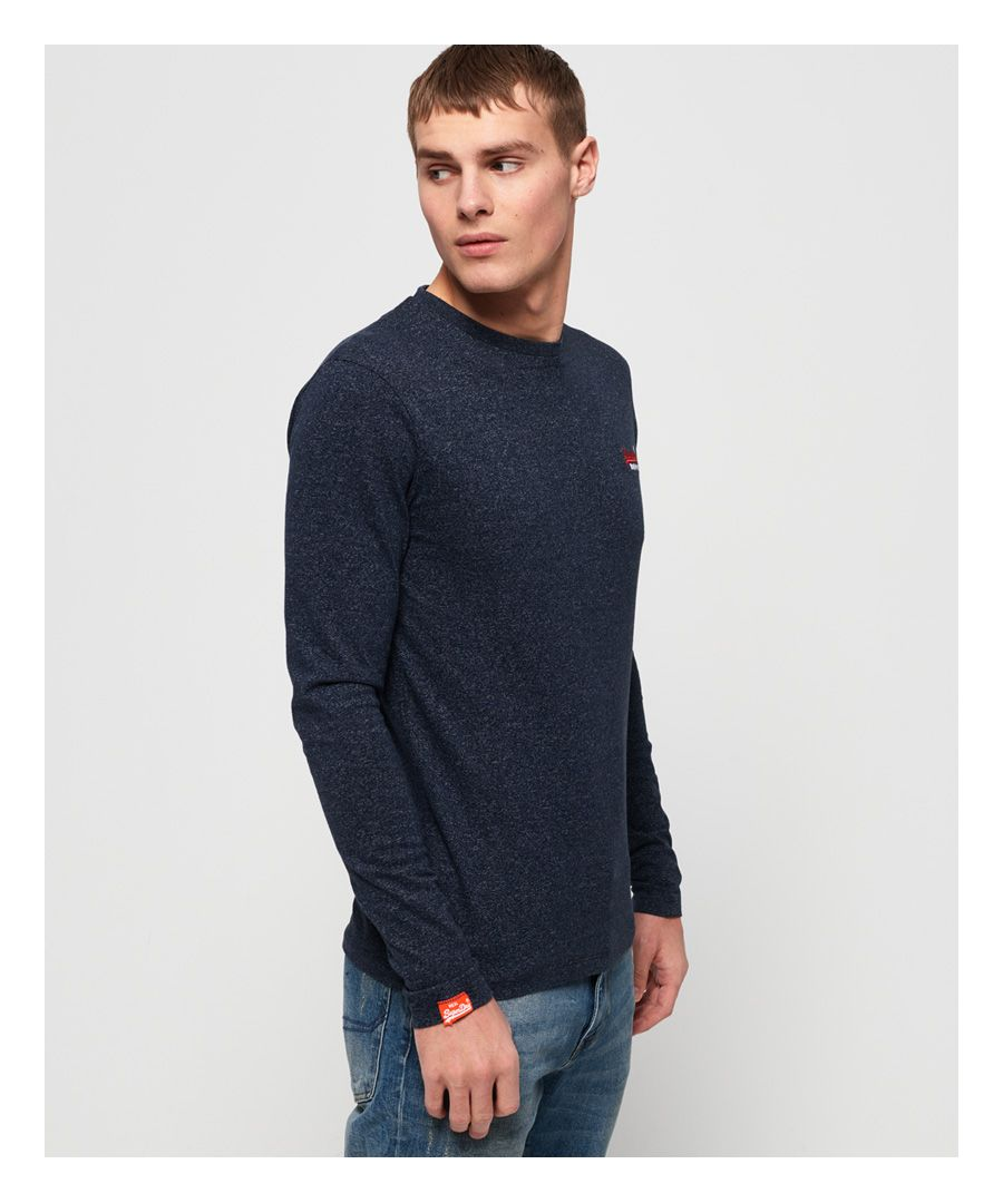 Image for Superdry Orange Label Vintage Embroidered Long Sleeve Top