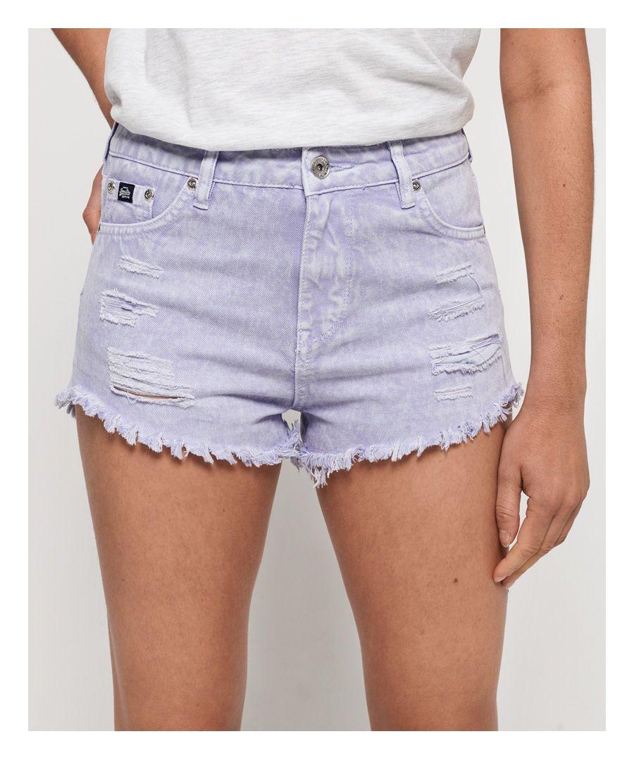 Image for Superdry Eliza Cut Off Denim Shorts