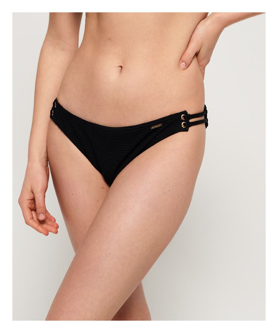 Image for Superdry Alice Textured Cupped Bikini Bottoms