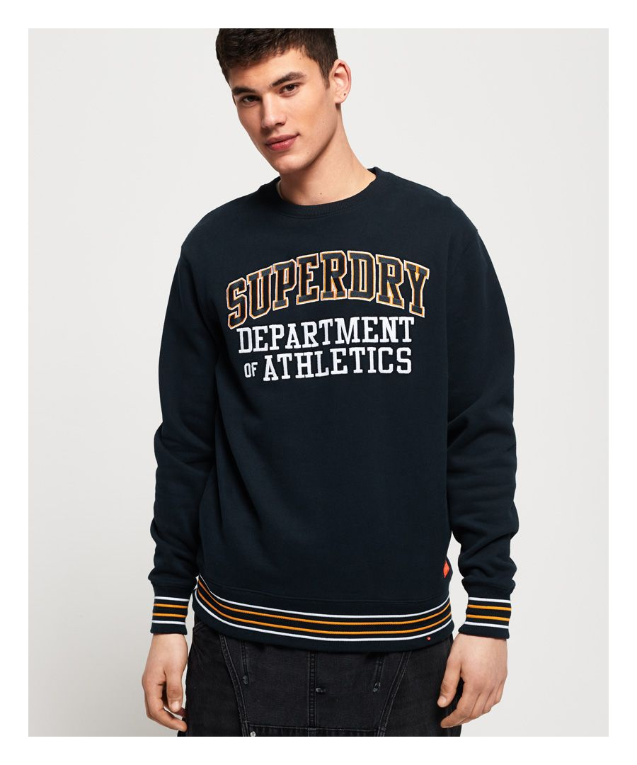 Image for Superdry College Boxy Fit Applique Crew Sweatshirt
