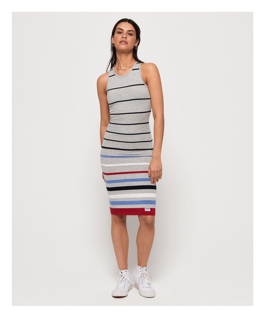 Image for Superdry Stripe Midi Dress