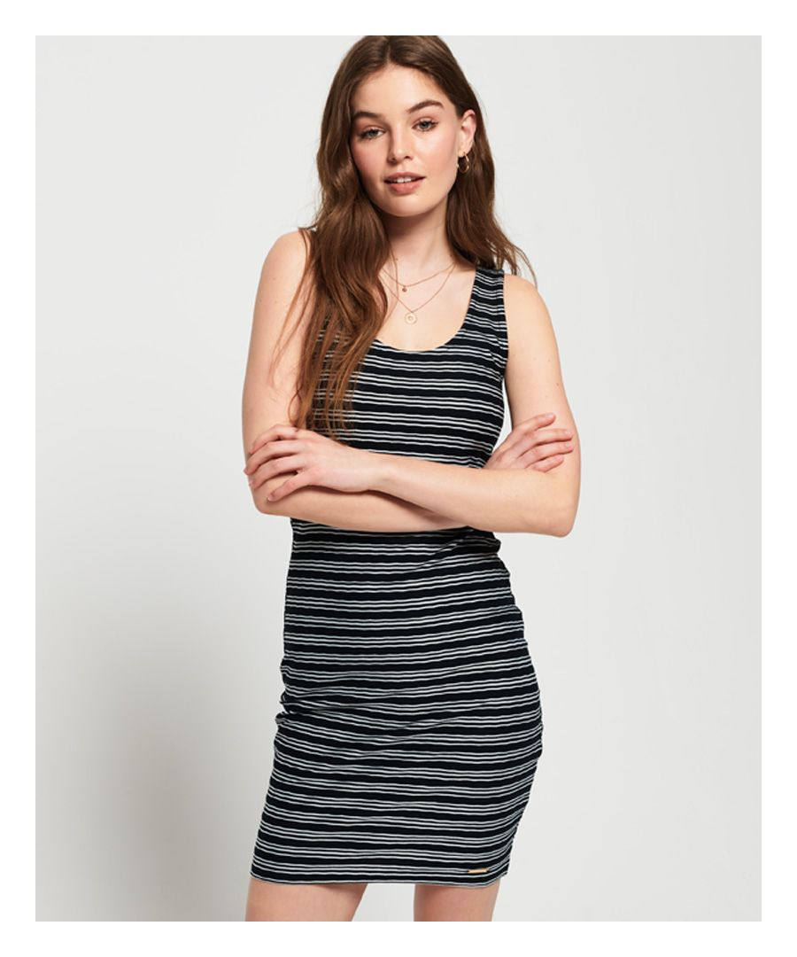 Image for Superdry Sienna Chevron Textured Mini Dress