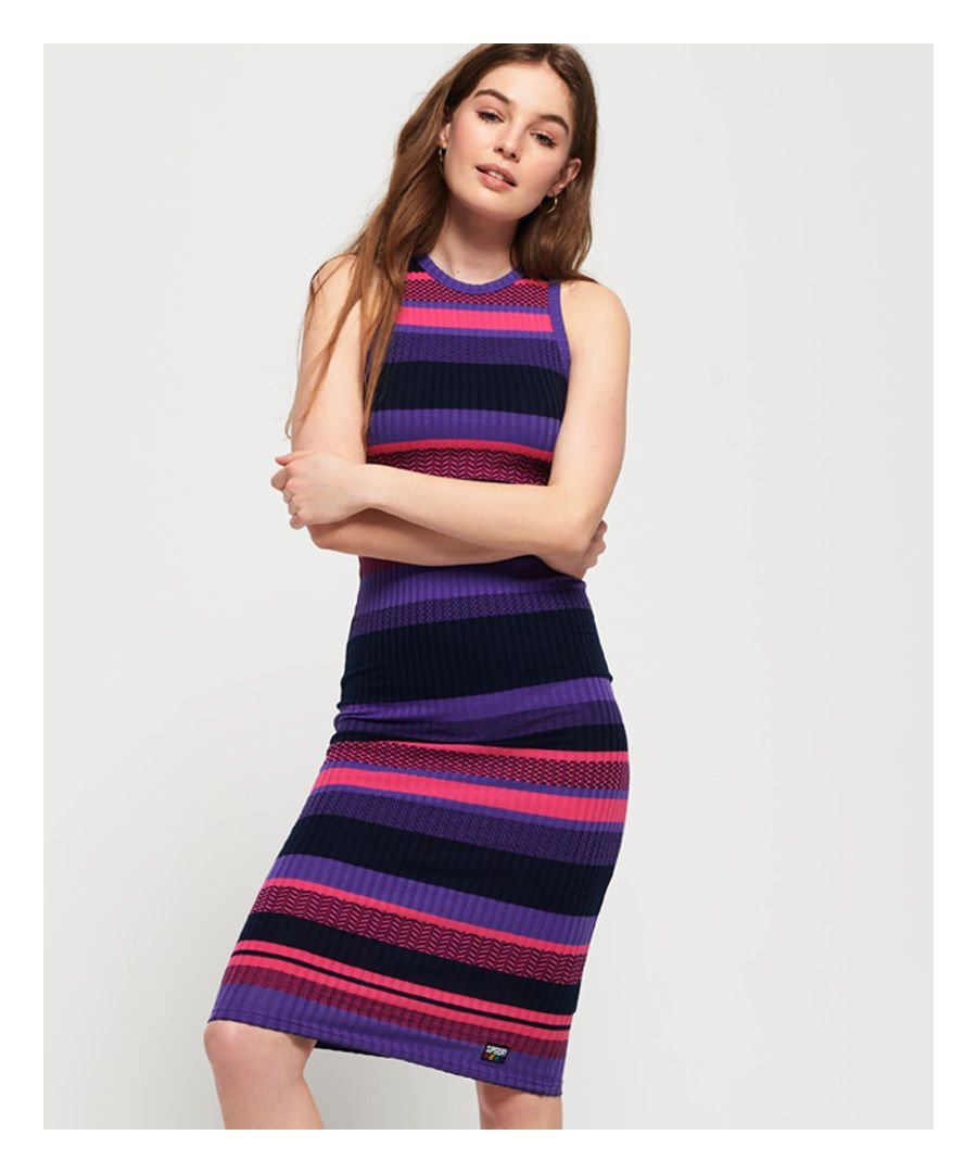 Image for Superdry Knitted Stripe Midi Dress