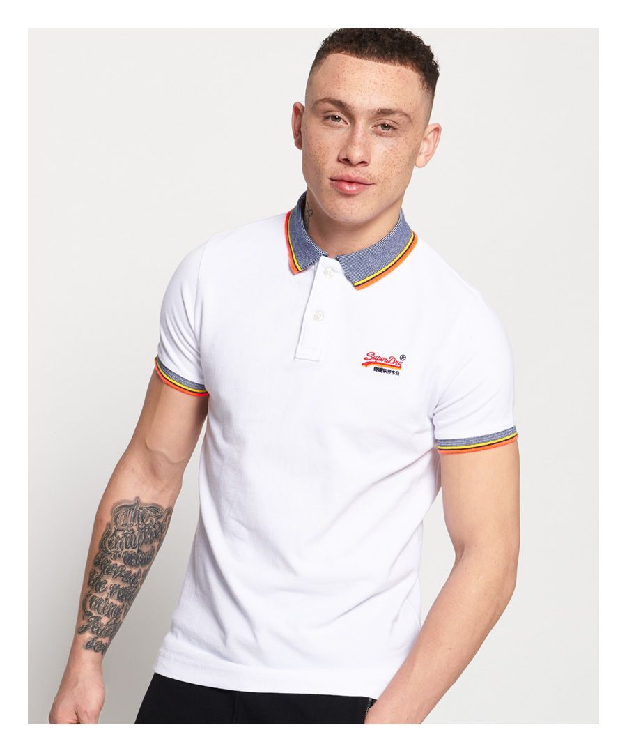 Image for Superdry Sunrise Cali Organic Cotton Pique Polo Shirt