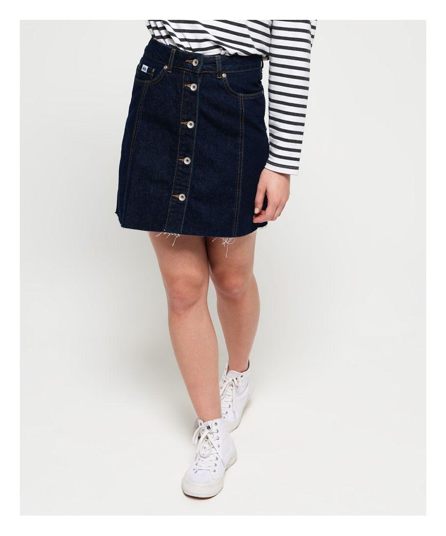 Image for Superdry Denim A Line Skirt