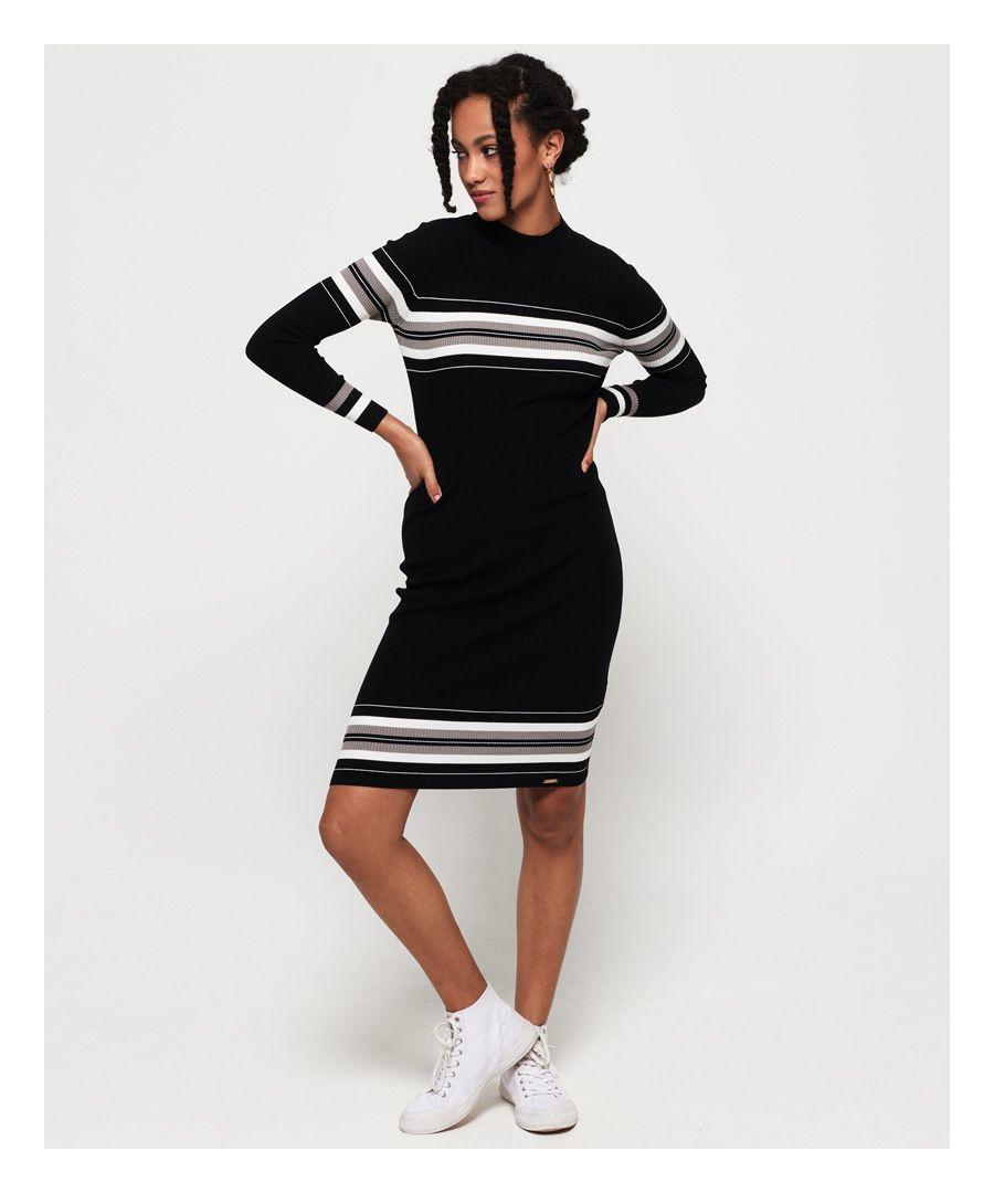 Image for Superdry Hallie Stripe Midi Dress