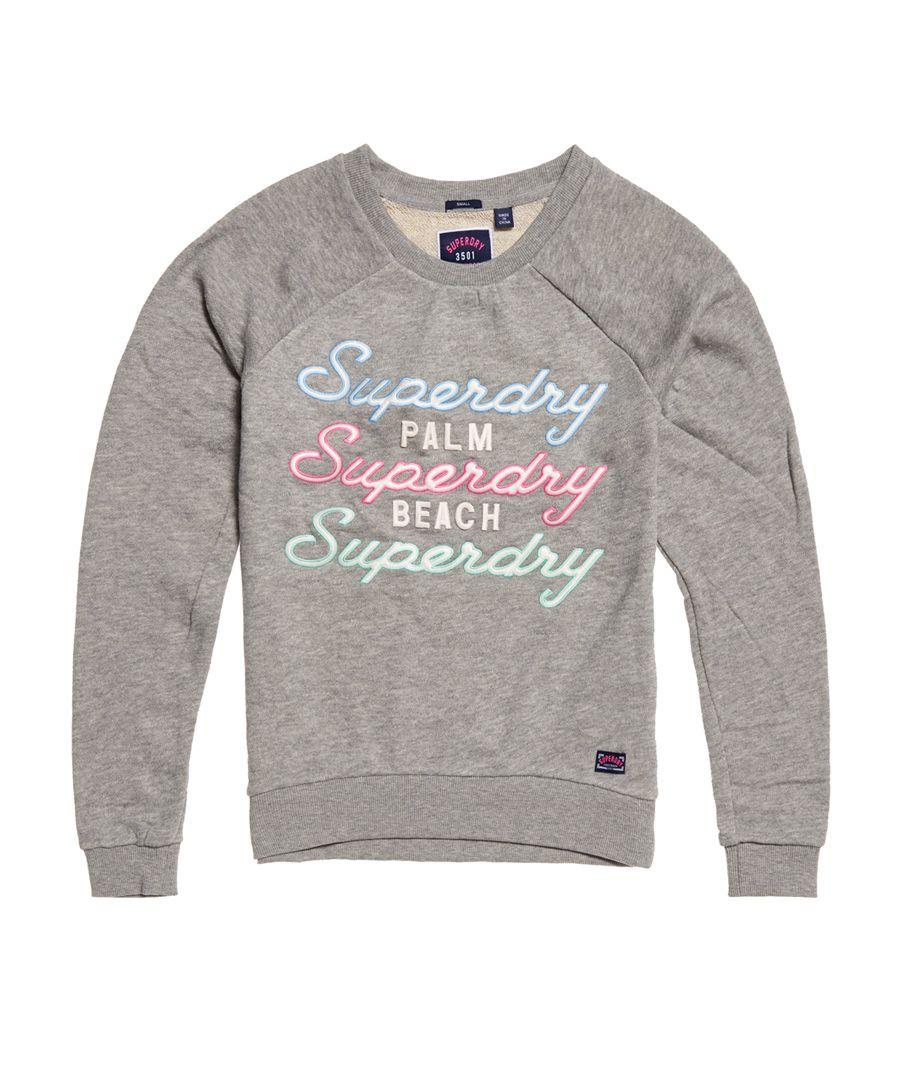 Image for Superdry Applique Raglan Crew Sweatshirt