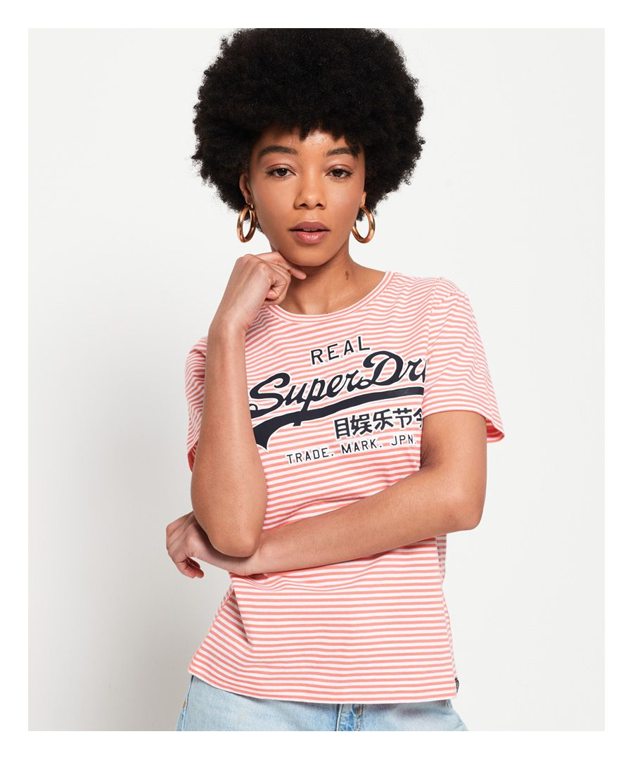 Image for Superdry Vintage Logo Stripe T-Shirt