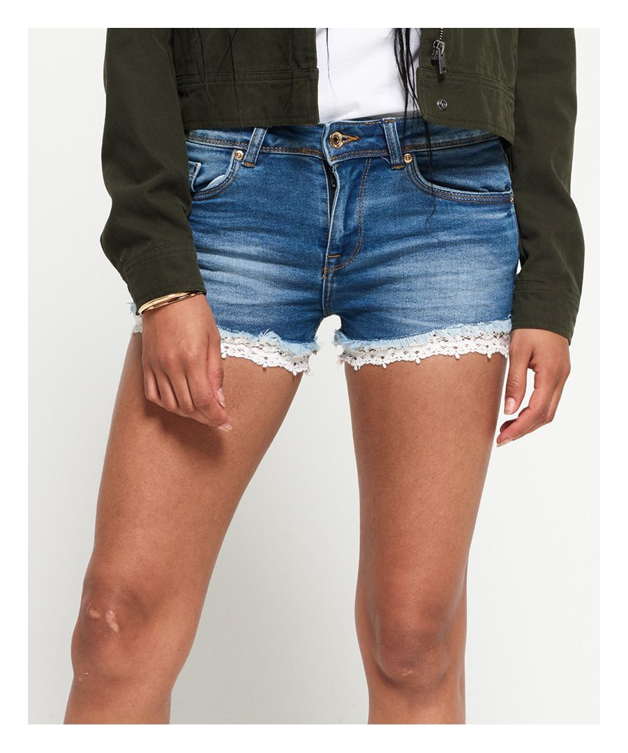 Image for Superdry Denim Lace Hot Shorts