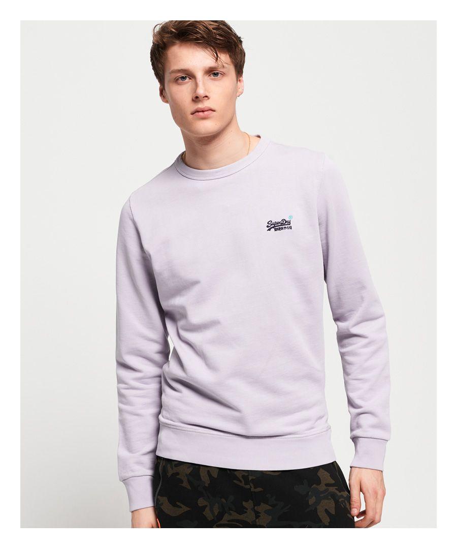 Image for Superdry Orange Label Pastel Line Crew Sweatshirt