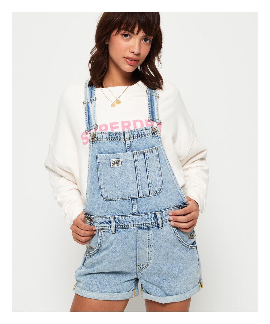Image for Superdry Denim Dungaree Boyshorts