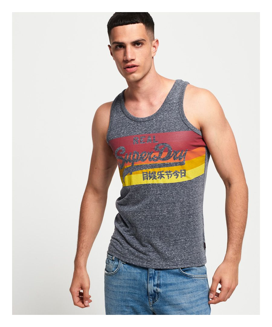 Image for Superdry Vintage Logo Cali Stripe Vest Top