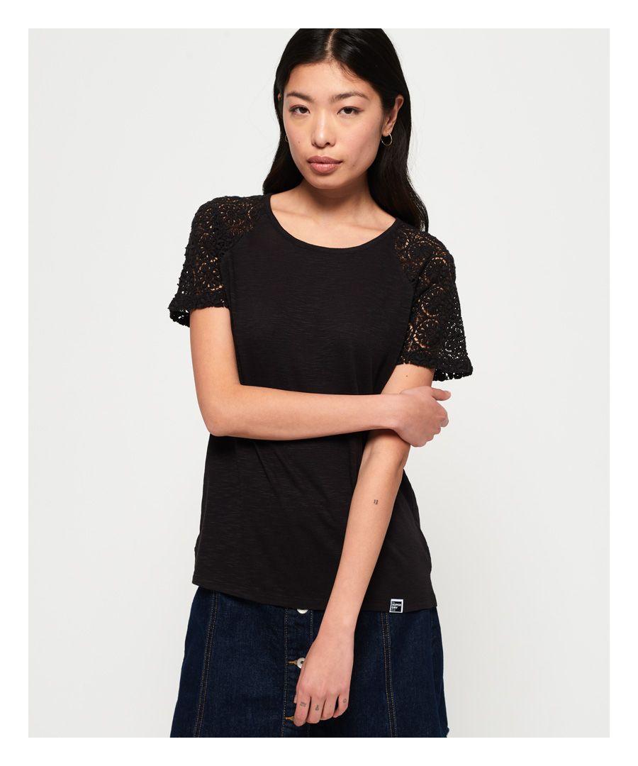 Image for Superdry Elisa Lace Raglan T-Shirt