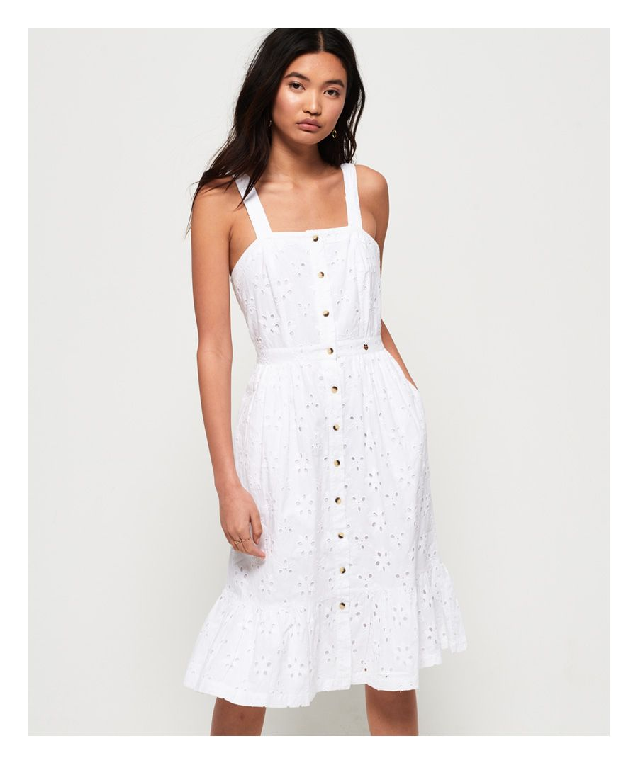 Image for Superdry Camille Button Schiffli Dress