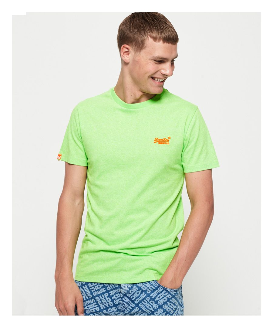 Image for Superdry Orange Label Fluro Grit T-Shirt