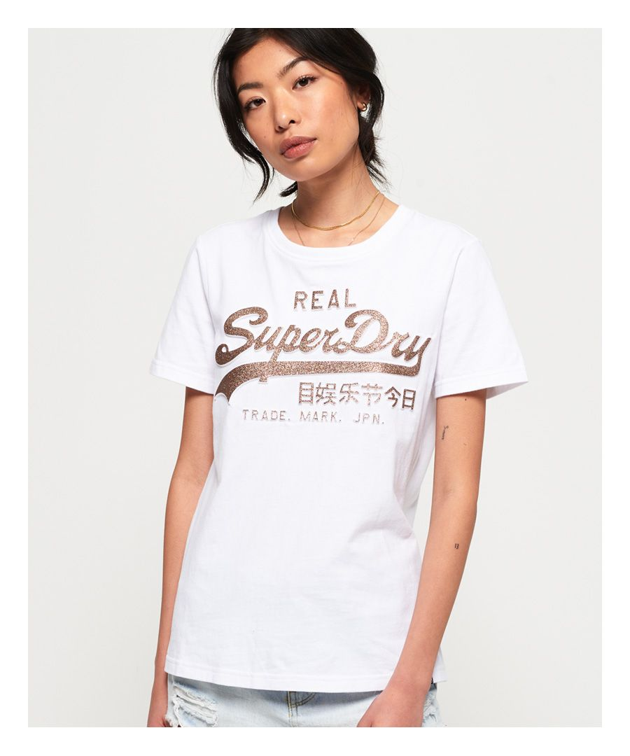 Image for Superdry Vintage Logo Glitter Embossed T-Shirt