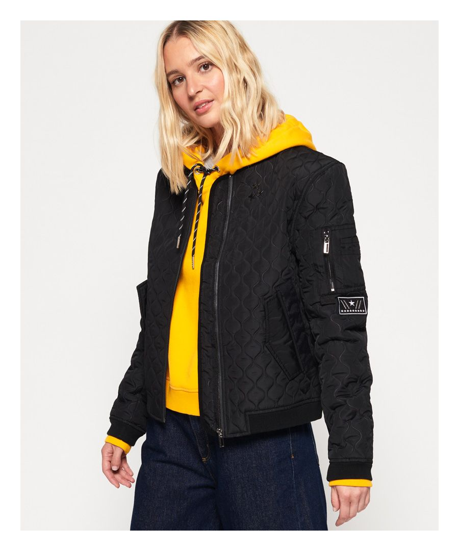 Image for Superdry Exene Quilt Bomber Jacket