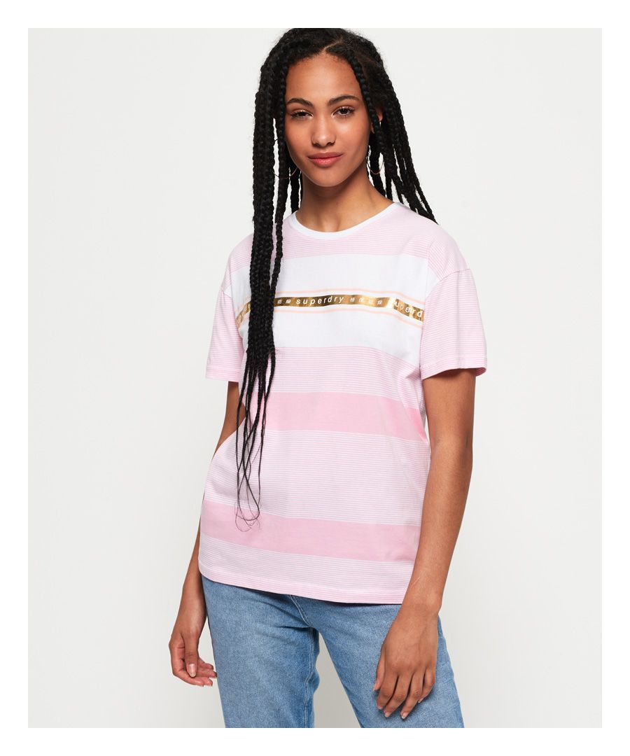 Image for Superdry Minimal Logo Tape Stripe Portland T-Shirt