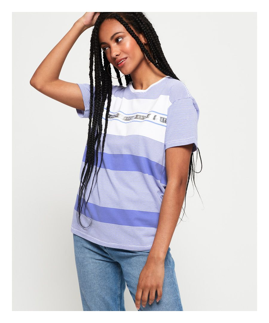 Image for Superdry Minimal Logo Tape Stripe Portland T-Shirt